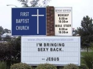church sign sexy back